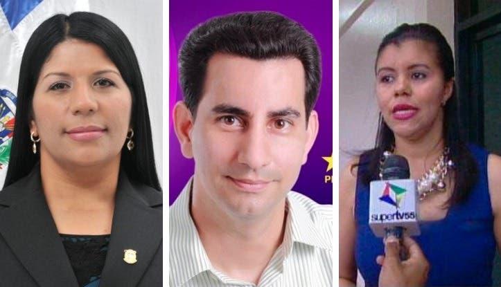 Rosa Guzmán, Conrado Abud y Altagracia González