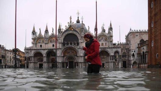 La hermosa Venecia, inundada  por la peor  'acqua alta' desde 1966