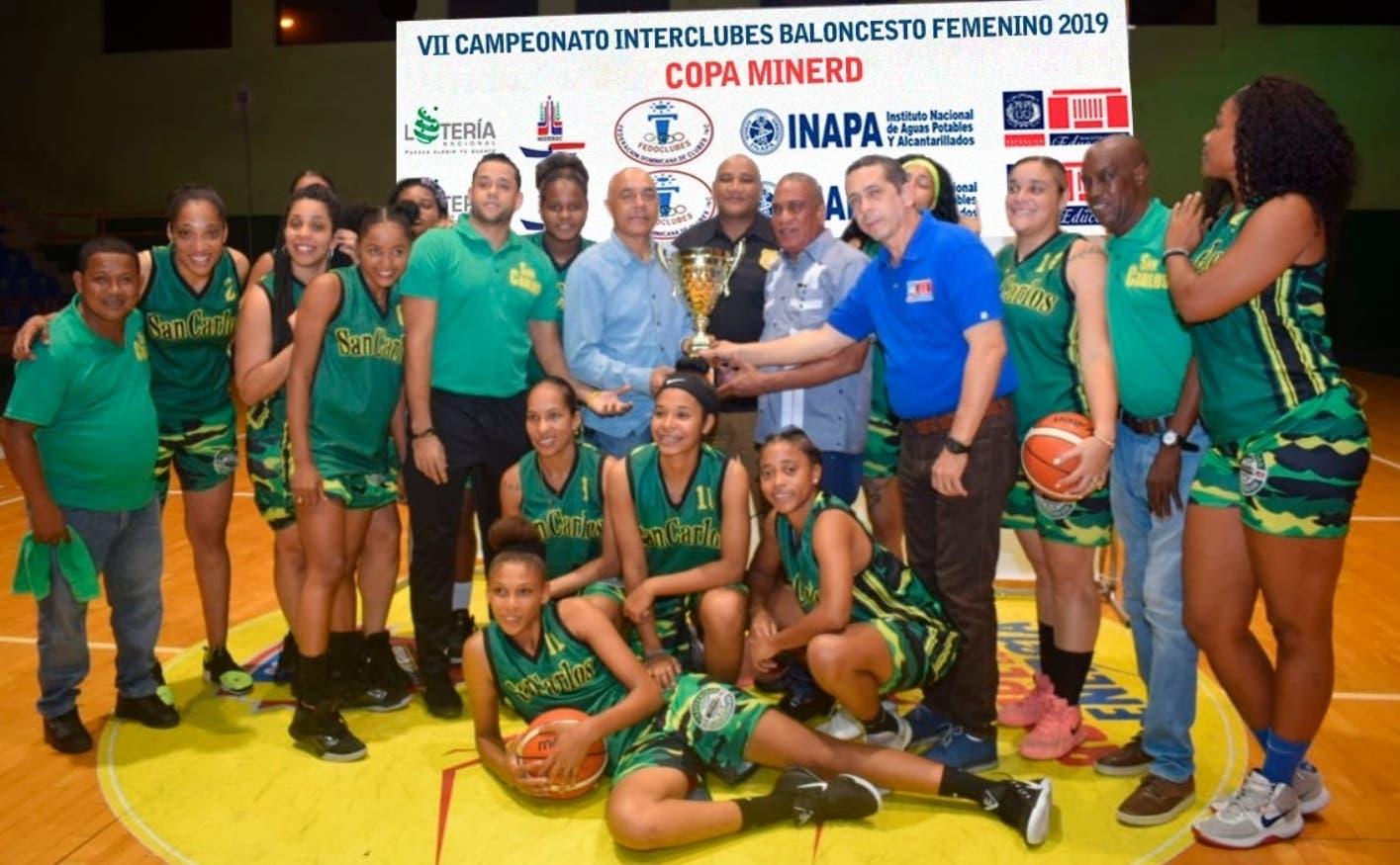 Club San Carlos se corona en torneo femenino baloncesto