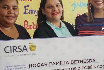 Grupo Cirsa  da donativo a Hogar Familia Bethesda