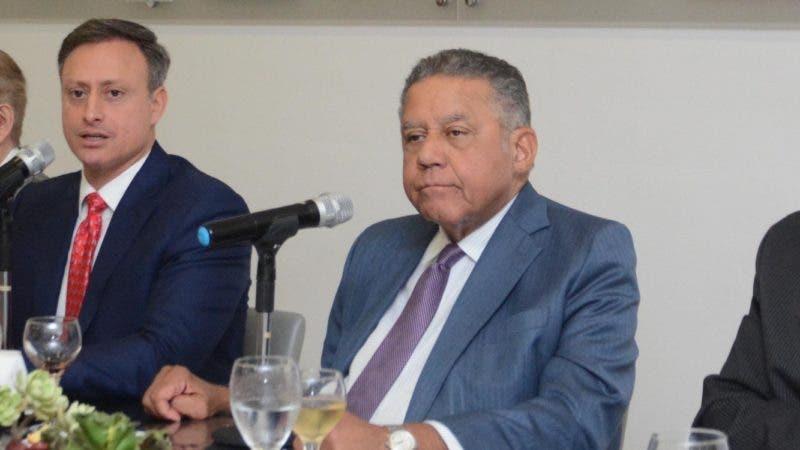 Jean Alain Rodríguez Sánchez, durante almuerzo semanal del Grupo de Comunicaciones Corripio, en el periódico Hoy Santo Domingo Rep Dom, 27 de noviembre de 2019. Pedro Sosa