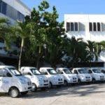 Dominocana Limpia entrega 21 camiones a municipios y Distritos municipales de pais para limpiezas de sus cidades. Fuente externa 12/11/2019