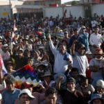 Supporters of former President Evo Morales assemble at Sacaba, Bolivia, Sunday, Nov. 17, 2019. Bolivia's political crisis turned deadly after security forces opened fire on supporters of former President Evo Morales in Sacaba on Nov. 15, killing multiple people and injuring dozens. (AP Photo/Juan Karita)