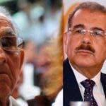 Pedro Pablo Medina y su hijo, el presidente de la República, Danilo Medina.