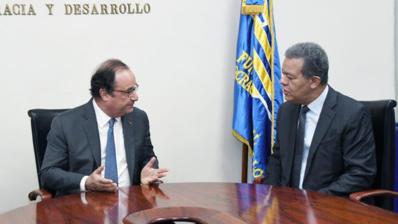 François Hollande y Leonel Fernández