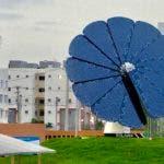 Girasol solar inteligente donado por Fundación AES Dominicana al Parque Temático en Ciudad Juan Bosch.