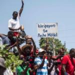 Manifestantes en Haití