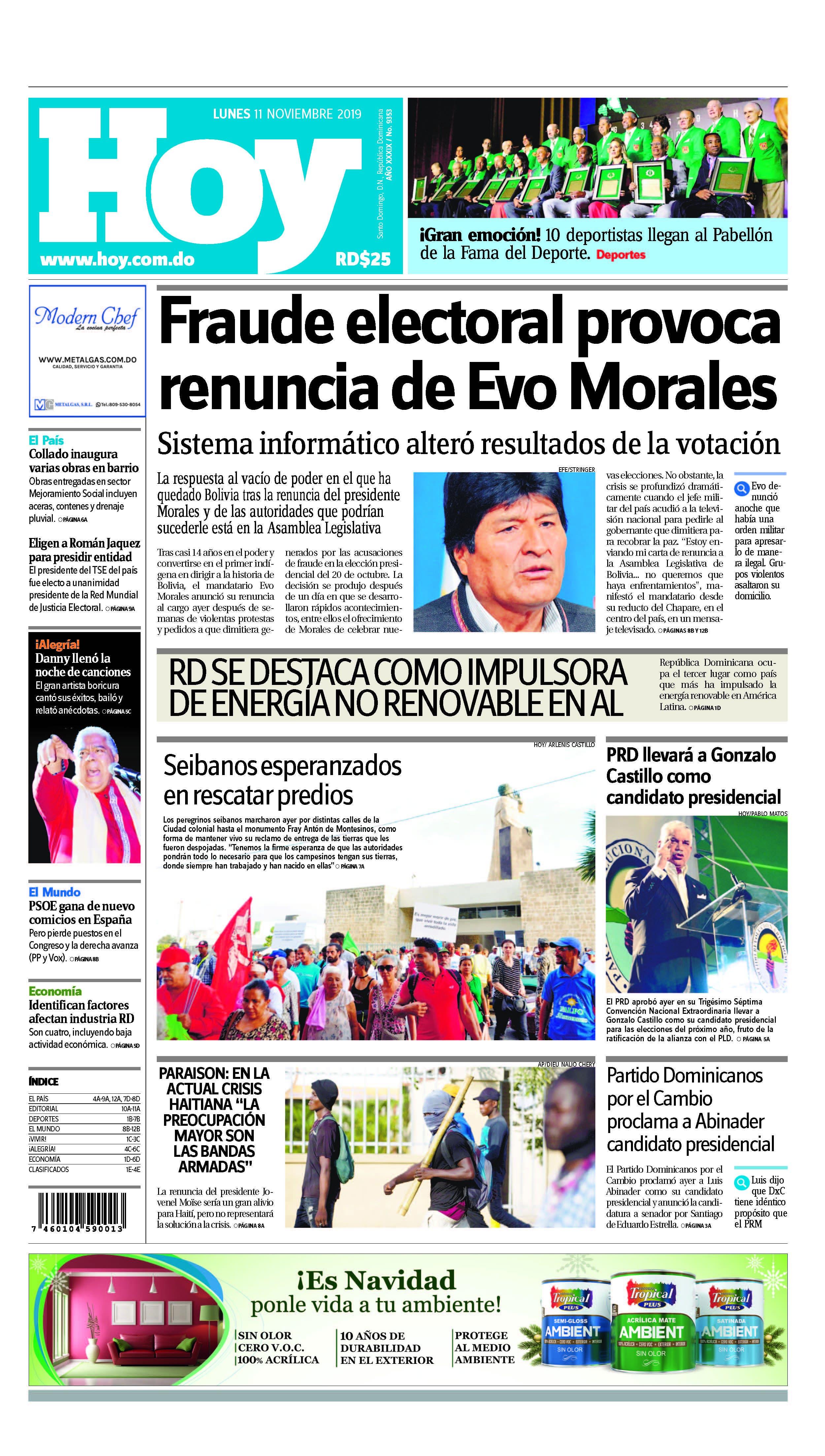 Pages from Edición impresa HOY lunes 11 de noviembre del 2019