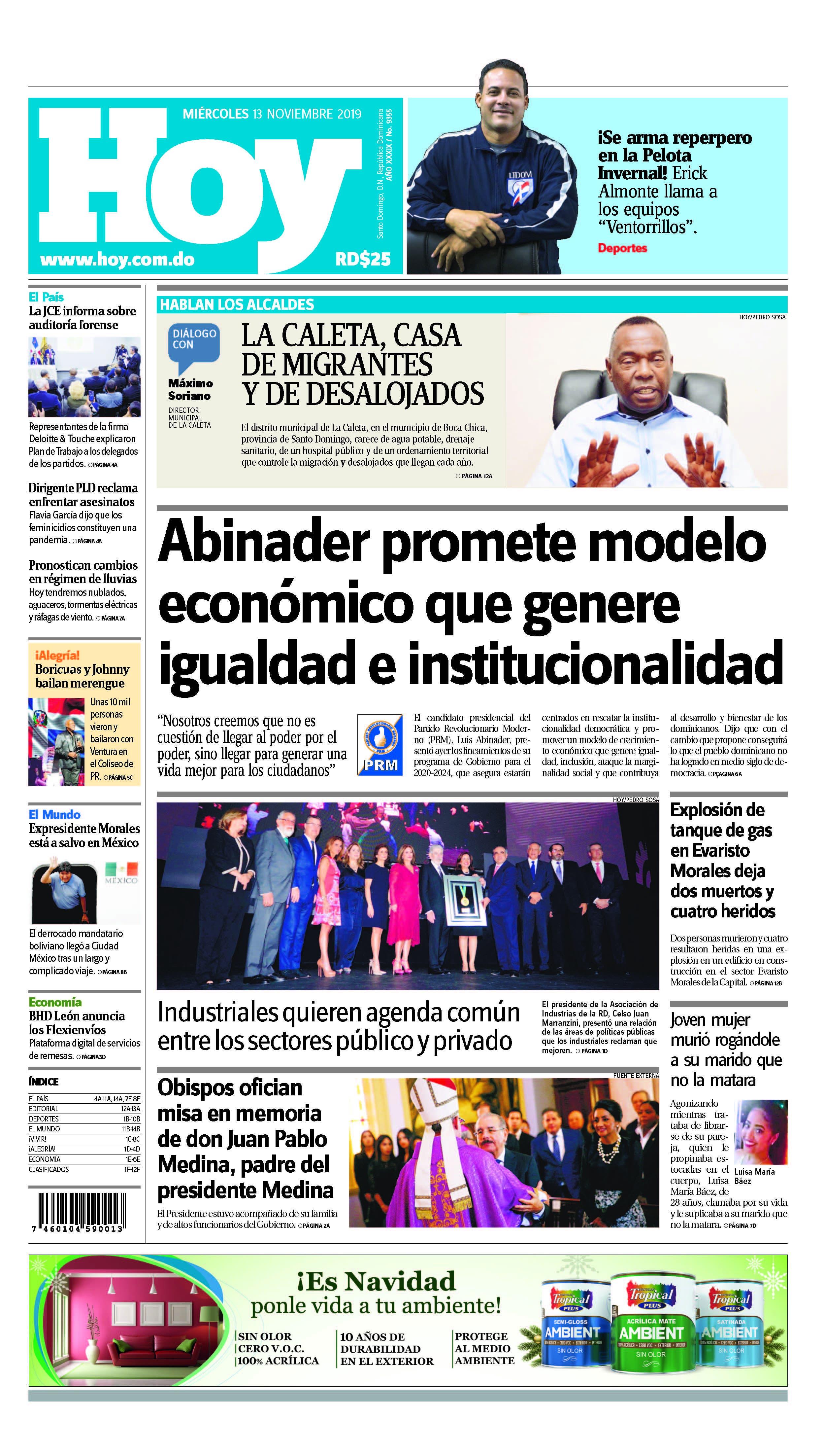 Pages from Edición impresa HOY miércoles 13 de noviembre del 2019