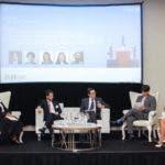 Isabel Andrickson,Cesar Moliné, Tim Girven, Manuel Alejandro Grullón y Miriam Sánchez duarnte el panel sobre ciberseguridad y derecho.