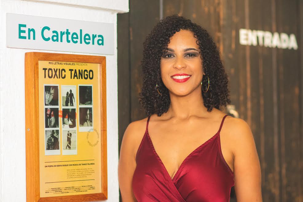 Fotos: Kenya Roque presenta cortometraje de su nuevo poema «Toxic Tango»