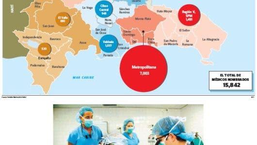 Hospitales públicos tienen 15,842 médicos, 45% en las ciudades