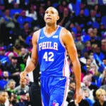 PHILADELPHIA, PA - OCTOBER 23: Al Horford #42 of the Philadelphia 76ers looks on during a game against the Boston Celtics on October 23, 2019 at the Wells Fargo Center in Philadelphia, Pennsylvania NOTE TO USER: User expressly acknowledges and agrees that, by downloading and/or using this Photograph, user is consenting to the terms and conditions of the Getty Images License Agreement. Mandatory Copyright Notice: Copyright 2019 NBAE (Photo by Jesse D. Garrabrant/NBAE via Getty Images)