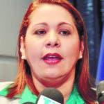 El pais.Laura Guerrero Pelletier, directora de la Dirección de Persecución de la Corrupción Administrativa (DPCA) en rueda de prensa.Hoy/Pablo Matos  6-04-2015