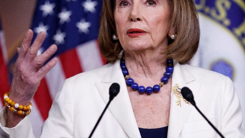 Washington (United States), 05/12/2019.- Speaker of the House Nancy Pelosi responds to a question from the news media during a press conference in the US Capitol in Washington, DC, USA, 05 December 2019. Earlier today Speaker Pelosi asked for the House Judiciary Committee to proceed with articles of impeachment against US President Donald J. Trump. (Estados Unidos) EFE/EPA/SHAWN THEW
