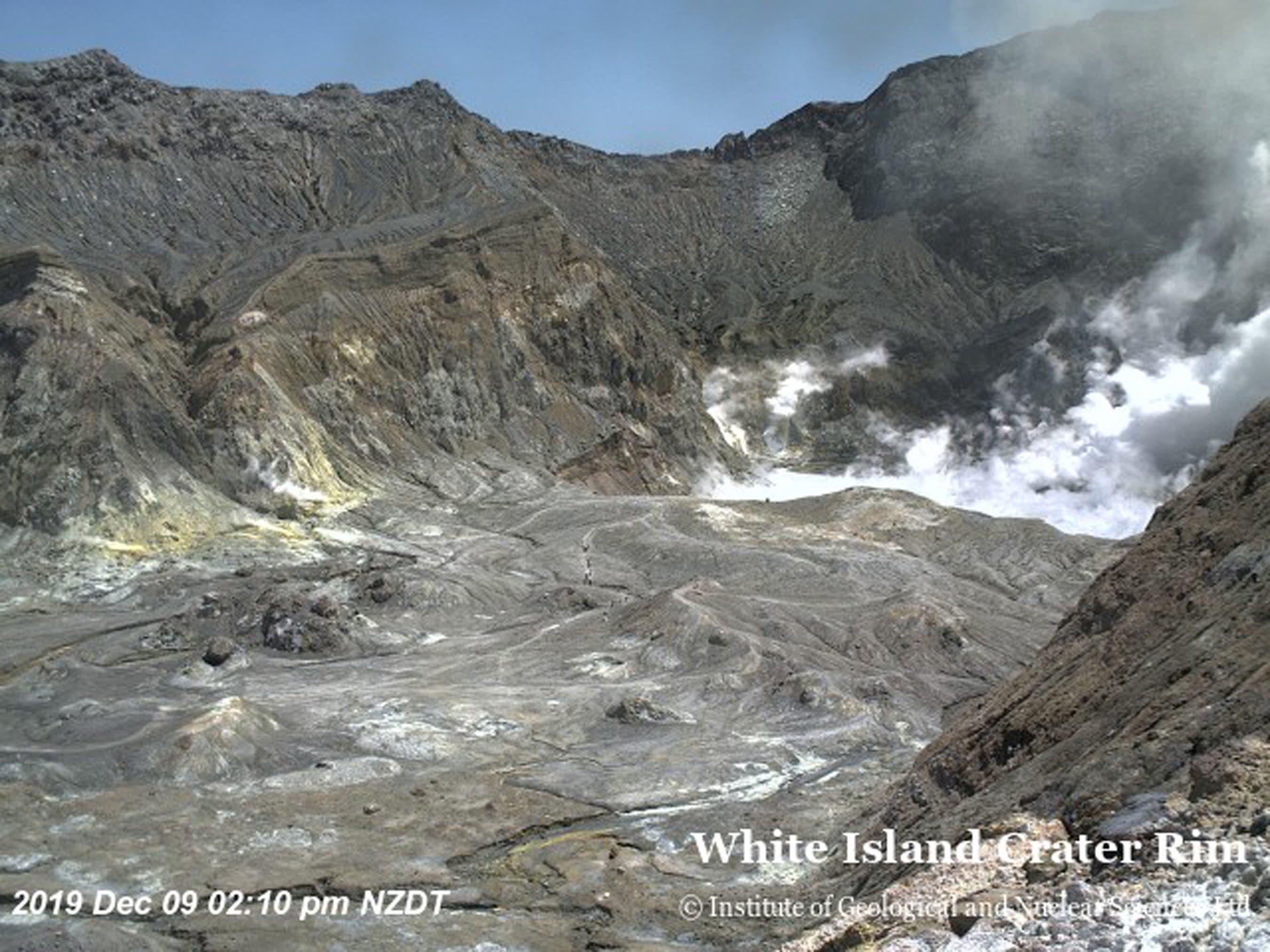 Video: Sin signos de vida en una isla de Nueva Zelanda tras la erupción de un volcán