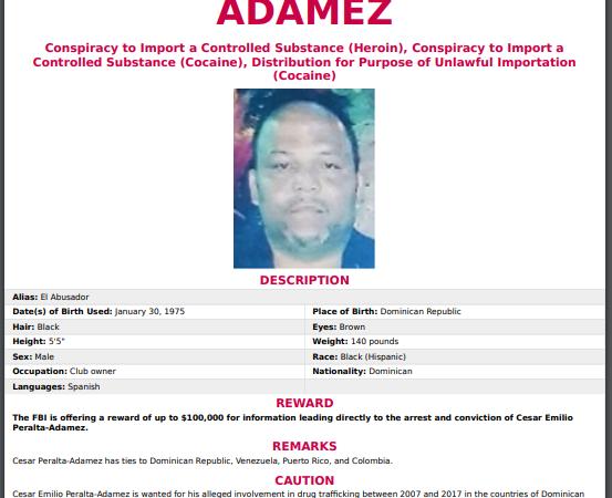 La captura de César El Abusador ocurrió justamente después que el Buró Federal de Investigaciones (FBI) de los Estados Unidos, ofreció una recompensa de hasta 100 mil dólares  por información que ayudara a su captura y condena.
