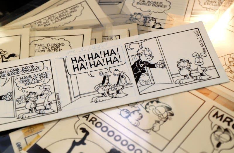 El autor de Garfield vende sus tiras cómicas en subasta