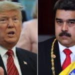 Presidente de EEUU, Donald Trump y el de Venezuela, Nicolás Maduro.