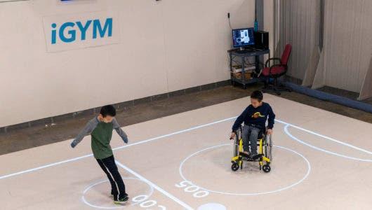 iGYM, sistema de realidad aumentada en el que personas con discapacidades pueden ejercitarse