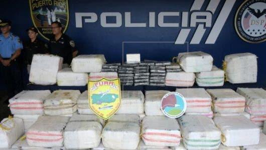 Cinco dominicanos llegan a Puerto Rico con casi 182 kilos de cocaína