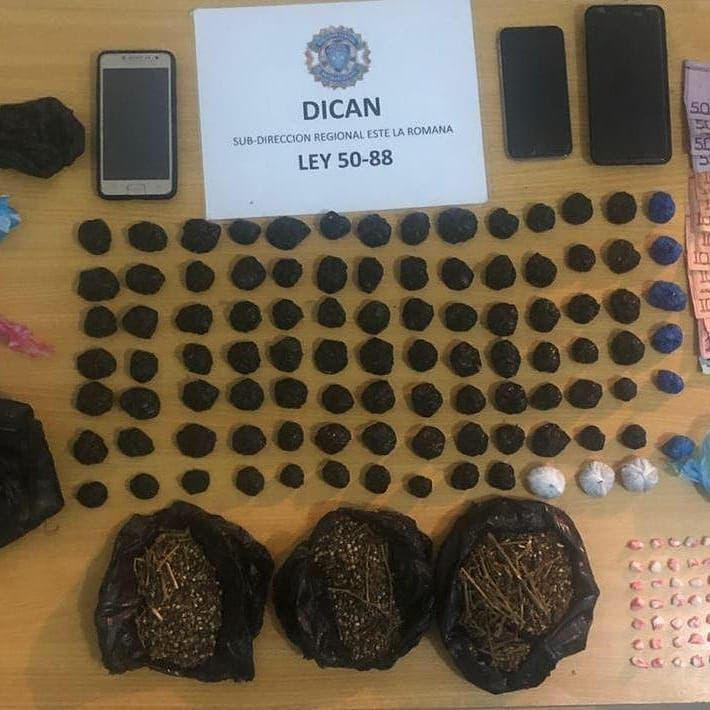 Arrestan a tres personas y desmantelan varios puntos de drogas en diferentes operativos