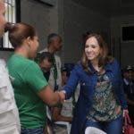 Karen Ricardo durante recorrido