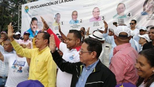 Proclaman los candidatos de la alianza PRD-PLD  de la boleta municipal de Los Alcarrizos
