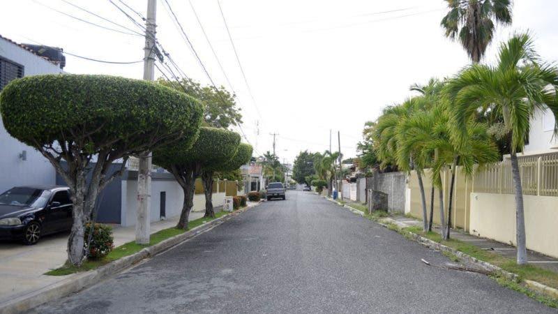 Calle Esthervina Matos, en La Castellana. Hoy/ Napoleón Marte