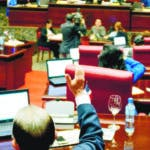 Hemiciclo / Sesión del Senado. En foto: . 25-10-17 Foto: José Adames Arias