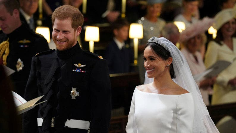 8. Prince Harry and Meghan Markle in St George's Chapel at Windsor Castle during their wedding in Windsor, Britain, May 19, 2018. Jonathan Brady/Pool via REUTERS - RC1A9DEBB810