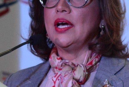 La vicepresidenta de la República, Margarita Cedeño de Fernández, durante una Charla en colegio don Bon bosco Domingo Rep. Dom. 30 de enero del 2020. Foto Pedro Sosa