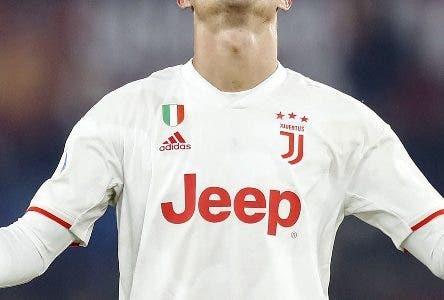 Rome (Italy), 12/01/2020.- Juventus' Cristiano Ronaldo reacts during the Serie A soccer match between AS Roma and Juventus FC at the Olimpico stadium in Rome, Italy, 12 January 2020. (Italia, Roma) EFE/EPA/Riccardo Antimiani