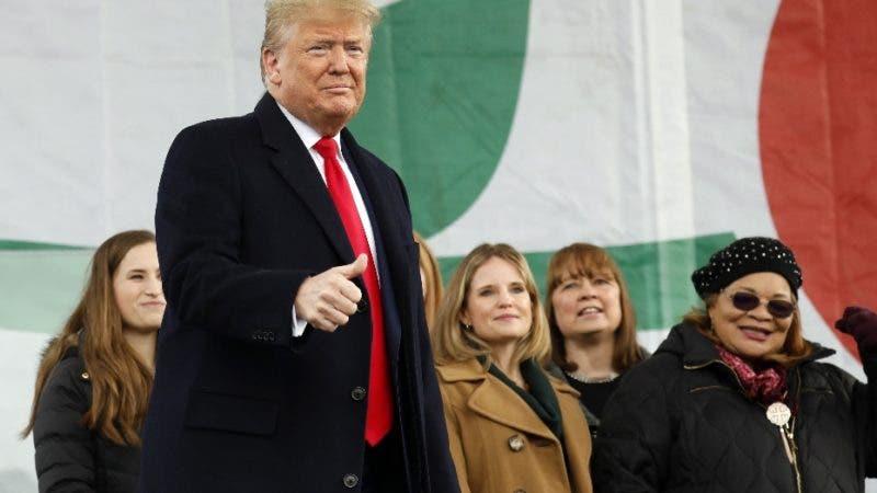 Washington (Usa), 24/01/2020.- US President Donald J. Trump attends the 47th annual March for Life on the National Mall in Washington, DC, USA, on 24 January 2020. (Estados Unidos) EFE/EPA/Yuri Gripas / ABACA POOL