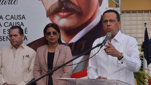 Peña Mirabal encabeza inicio actos por 207 años del natalicio de Duarte