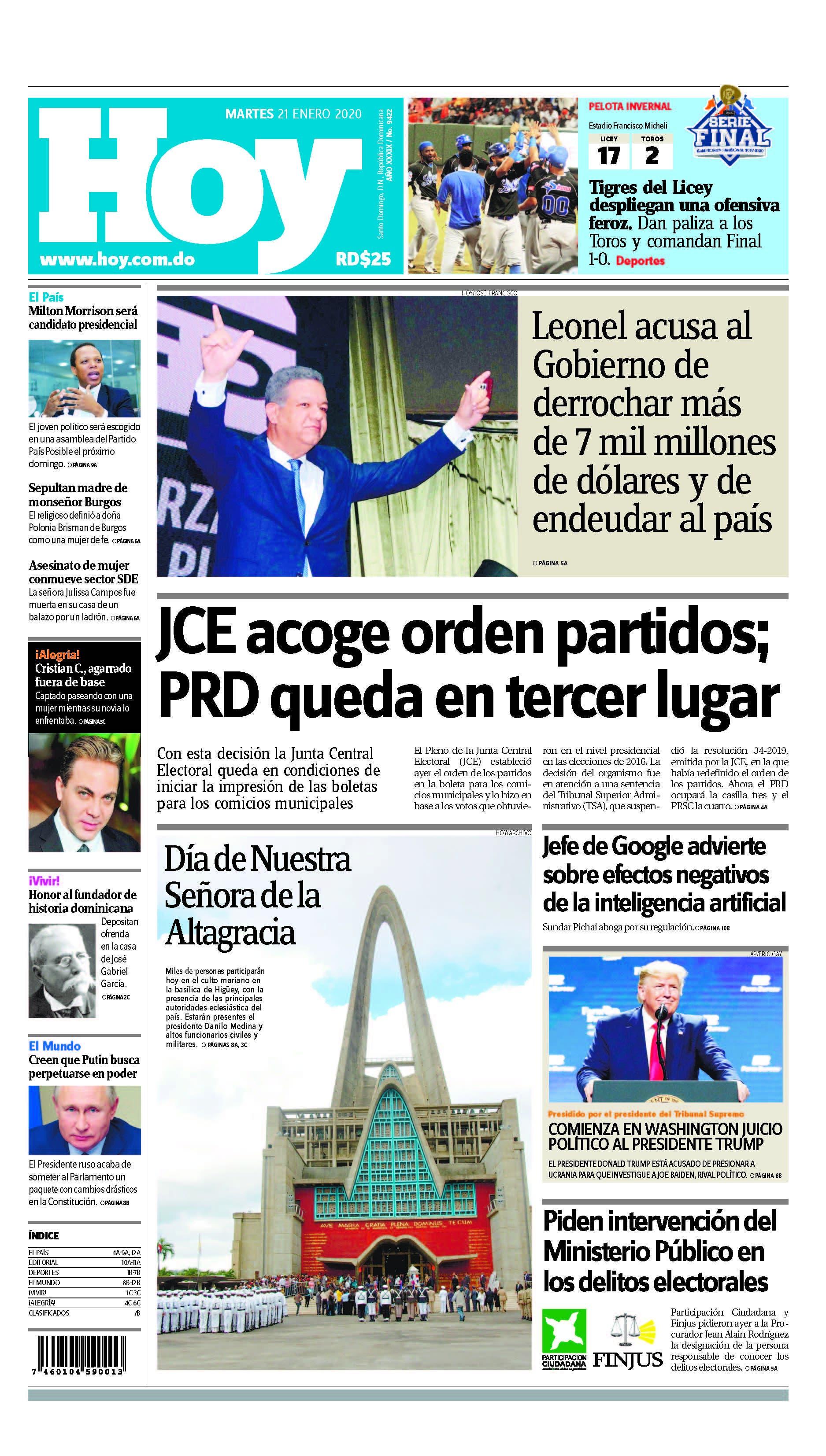 Pages from Edición impresa HOY martes 21 de enero del 2020