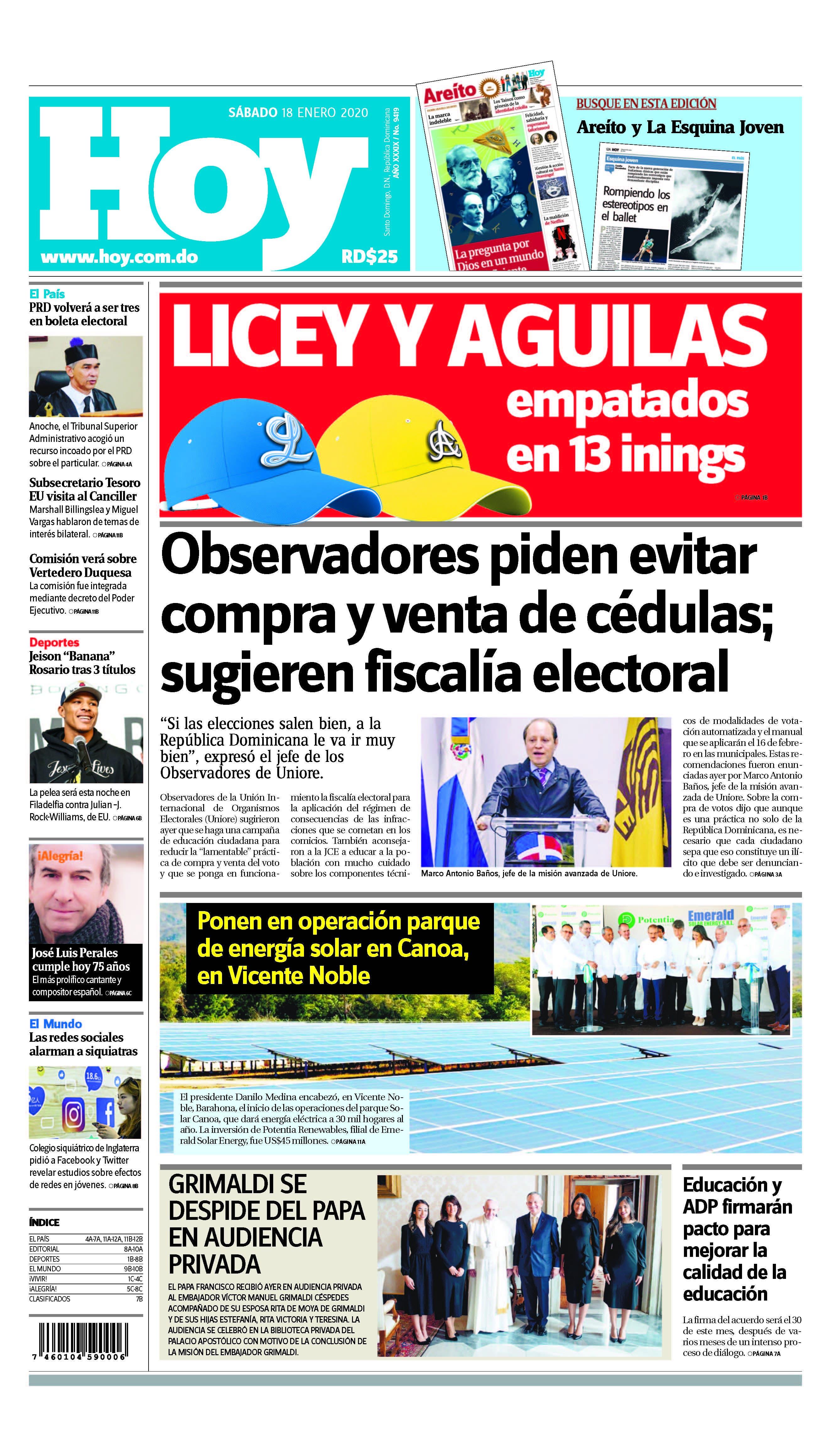 Pages from Edición impresa HOY sábado 18 de enero del 2020
