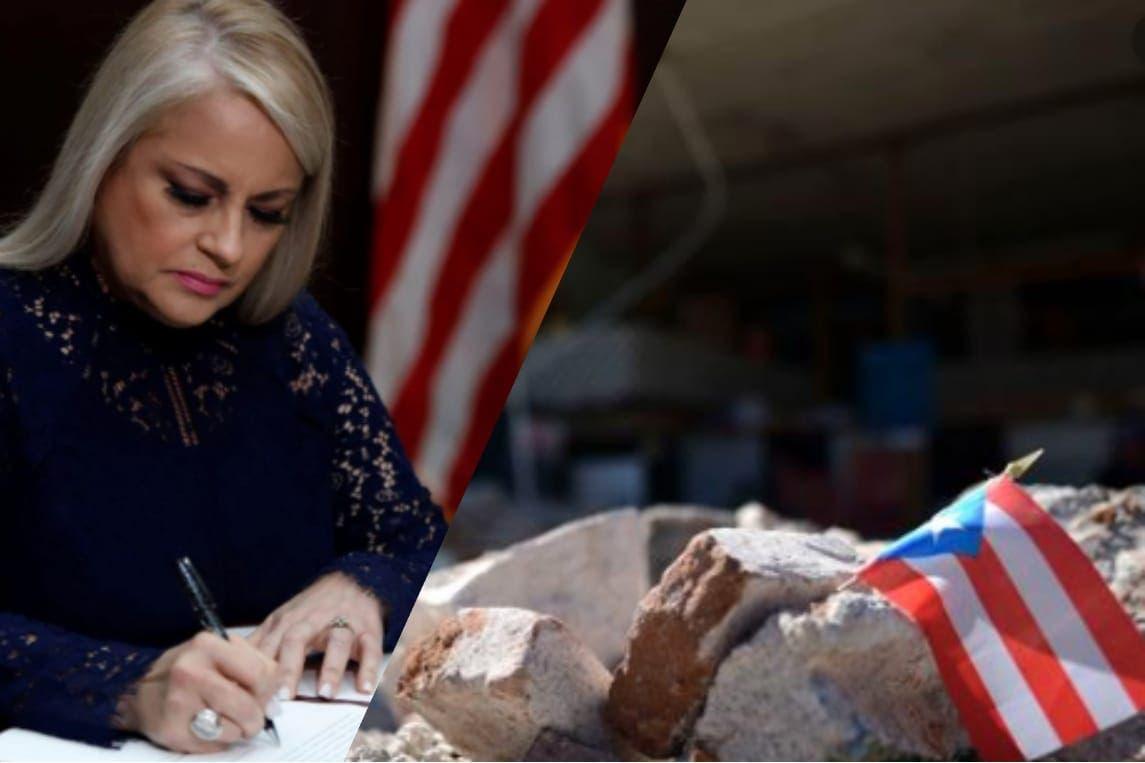 Gobernadora de Puerto Rico firma declaración de emergencia de desastre mayor