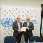 El Secretario General de la OEI, Mariano Jabonero, y el Coordinador Residente del Sistema de la ONU en República Dominicana, Mauricio Ramírez Villegas