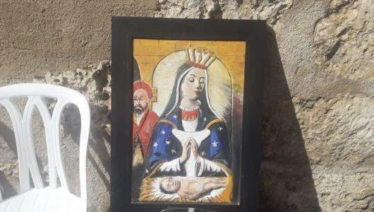 Imagen de la Virgen en Arcilla. Foto Balbiery  Rosario.