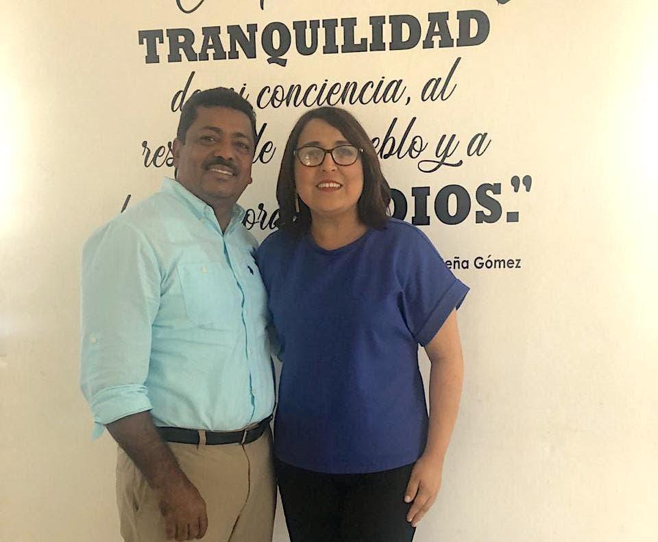 Junior Santos y Emelyn Baldera dicen que trabajan unidos para fortalecer PRD