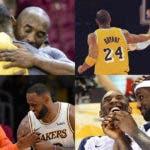 LeBron James junto a Kobe Bryant/Fuente externa