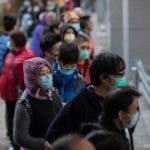 People line up to buy face masks in Hong Kong