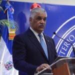 El ministro de Relaciones Exteriores, Miguel Vargas firma acuerdo con Canadá en el  ministro de Relaciones Exteriores, Santo Domingo Rep. Dom. 26 de febrero del 2020. Foto Pedro Sosa