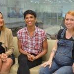 Durante una visita a la redacción del periódico hoy, fueron entrevistadas las señora Loira Henríquez, Cindy Sosa y Alicia León, sobre embarazos y ejercicios. Hoy/ Napoleón Marte 19/02/2020