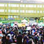 Protesta en la plaza de la bandera. 19-2-2020 Foto: Jose Adames Arias