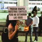 Pequeño grupo de personas Protestan frente a la JCE . En la foto: Grupo de Activistas. Lugar: Plaza de la Bandera. Fecha: 28-2-2020 Fotoperiodista: José Andrés De los Santos. Periodista: Emilio Guzmán.
