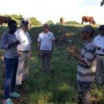 Técnicos de la FAO conversan con ganaderos del proyecto climáticamente inteligente.