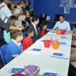 Empresas del Sector privado hizo entrega formal de la Biblioteca infantil Letras Chiquitas, en el sector de capotillo al Alcalde del D.N, David Collado. Hoy/ Arlenis Castillo/24/02/2020.