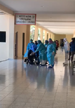 Vídeo que circula de paciente con posible coronavirus no es en RD sino en Honduras